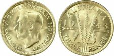 1943-D AUSTRALIA 3 PENCE BU UNCIRCULATED PCGS MS63 COIN IN HIGH GRADE