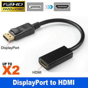 25cm DisplayPort Display Port DP Male to HDMI Female Adapter Converter 1080P