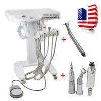 Portable Dental Delivery Mobile Cart Unit Equipment 4-Hole Syringe Handpiece Kit