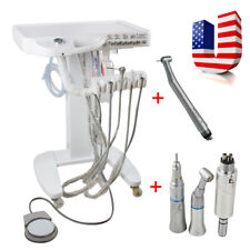 Portable Dental Delivery Mobile Cart Unit Equipment 4-Hole Syringe Handpiece Kit
