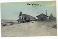CB&Q Chicago Burlington and Quincy Railroad Station Depot AUGUSTA IL Postcard