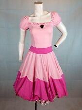 Sexy Princess Peach Toadstool Mario Bros Dress Adult Womens Cosplay Costume L/XL