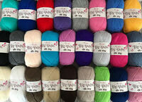 JOBLOT BUNDLE 500g: 10 x 50G BALLS OF KING COLE DK Double Knitting Wool Yarn