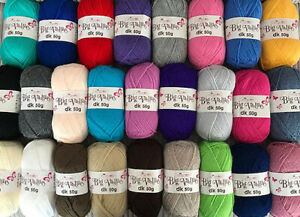JOBLOT BUNDLE 500g: 10 x 50G BALLS OF KING COLE DK Double Knitting Wool Yarn