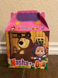 10ct Masha and The Bear Party Favor Candy/Treat Boxes Loot Goody Cajita Dulcera