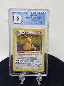ITALIAN**Dragonite 4/62 Fossil Holo Pokemon Card CGC 9 Mint & Swirl Like PSA