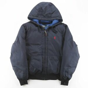 Vintage POLO RALPH LAUREN  Blue 00s Polyester Casual Puffer Jacket Boys M
