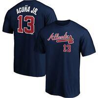 Men's Fanatics Branded Ronald Acuna Jr. Navy Atlanta Braves Name & Number