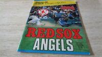 1986 ALCS Playoff Baseball Program -  California Angels @ Boston Red Sox