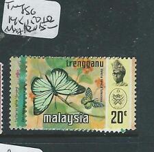 MALAYA TRENGGANU (PP3007B) BUTTERFLY SG 148, 150, 152  MNH
