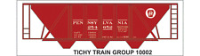 Tichy Train Group #10002 HO Scale PRR H-30 Hopper Red Car Decal