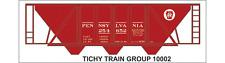 Tichy Train Group #10002O O Scale PRR H-30 Hopper Red Car Decal