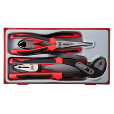 Genuine Teng Tools 4 piece Mega Bite plier set with TPR handles - TT440-T