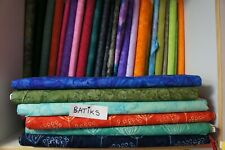 Collection of Cotton Batik Fabrics, fat quarter or by metre
