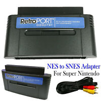 NES to SNES Game Retroport Converter Adapter Cartridge for Super Nintendo SNES