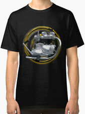 Triumph TR7 Tiger 750 Retro Motorcycle engine Vintage TShirt INISHED Productions