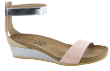 Naot Pixie Pearl Rose/Champagne/Silver Wedge Sandal Women's sizes 5-11/36-42 NEW