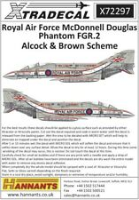 XTRADECAL 1/72 RAF McDonnell-Douglas PHANTOM fgr.2 ALCOCK & Marrone Scheme parte