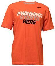 23c9c96b Nike Men's Hashtag Winning Starts Here Orange T-Shirt