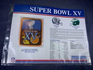 G5-57 NFL PATCH - SUPER BOWL XV - OAKLAND RAIDERS / PHILADELPHIA EAGLES - 1981