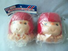 Vtg Westrim Doll Yarn Hair Head & Hands Mitzy! 2! Red Hair! 1980! Hong Kong