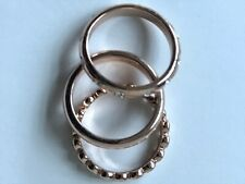 Gold Plated Set of 3 Womens Rings Size O
