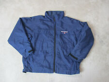 VINTAGE Ralph Lauren Polo Sport Jacket Adult Large Blue White Spell Out Coat 90s