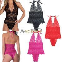 Plus Size Sexy Womens Underwear Babydoll Lace Lingerie Teddy Sleepwear Nightwear