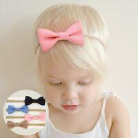 4Pcs Kids Girls Baby Bowknot Hair Band Headband Set Toddler Headwear