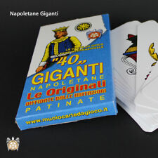40 Carte Napoletane Giganti Gioco Di Carte Patinate lui