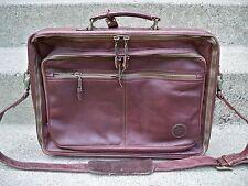 Vtg Made in Colombia Brown Leather Shoulder Messenger Lawyer Bag Briefcase Pack