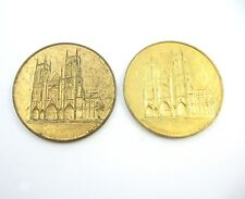 PAIR of Cathedral Church of St. John The Divine New York Pilgrimage Coin Medals