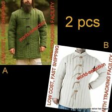 2 pcs Thick medieval padded armor gambeson reenactment halloween play drama