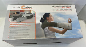 NEW SONIC COMFORT THERAPLUS Neck & Shoulder Massager + Heat Therapy A/C D/C
