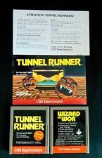 Atari 2600 Game Cartridge Lot Of 3 Tunnel Runner W/Manual & Wizard Of Wor