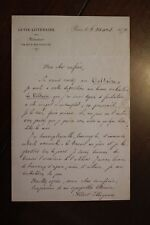 ✒ L.A.S. Albert COLLIGNON à Aurélien SCHOLL - propose participation au VOLTAIRE
