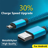 0.5M/1.5M Nylon Hemp Rope Micro USB Fast Data&Sync Charger Cable Cord For Phone
