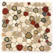 Pool Mosaic Tile Backsplash Kitchen Pebble Bathroom Flooring Cobble Tile(11 PCS)