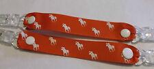pr mitten glove clips baby girl boy child polo pony bright red white horse xmas