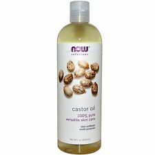 Castor Oil 100% Pure Multi-Purpose Hair & Skin 16oz Now Solutions Free Shipping
