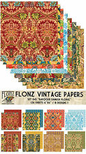 "Paper 24sh 6""x6""# Baroque Damask Flourishes # Flonz 045 Craft Scrapbooking"