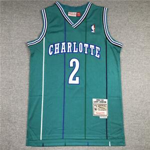 Men's Larry Johnson Charlotte Hornet Throwback Swingman Jersey Green Size S-XXL