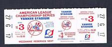 1970's New York Yankees American League Championship ticket Yankee Stadium