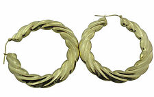 10KT Yellow Gold Hoop Earrings 10.55gms from BossManNYC