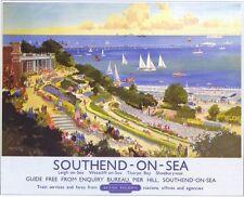 1948 British railway southend on sea chemin de fer poster a2 réimpression