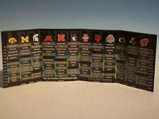2012 BIG 10 TEN FOOTBALL Composite Pocket Schedule Michigan Ohio State Nebraska