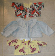 THREE VINTAGE FLANNEL INFANT OR TODDLER SHIRTS