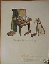 1944 Paul Jones Dry Whiskey Dog Yorkshire Terrier Ad