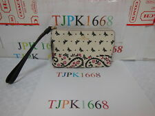NWT Coach~Chalk Bright Pink~Butterfly Bandana Corner Zipper Wallet 59790