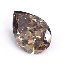 GIA Graded 8.16 Carats Pear Shape Natural Fancy Dark Brown Diamond Super Large